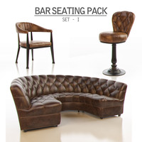 3d model of bar seating pack -