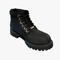 3d model of scanning leather male boot