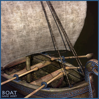 medieval boat 3d max