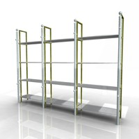3d model of product racks pipe