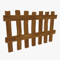 3d cartoon wooden fence