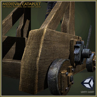medieval catapult 3d max