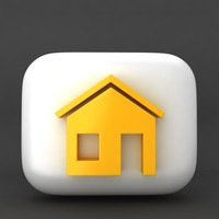 web icon home 3d model