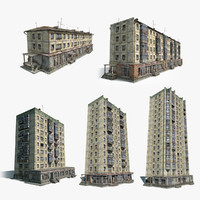 Soviet Tile Houses Set