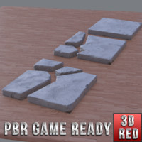 3ds max ready concrete tiles