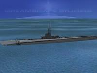 subs balao class submarines 3d max
