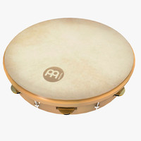 3d fbx tambourine