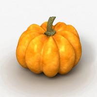 3d pumpkin fruit model