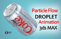 droplets diet coke 3d max