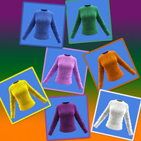 free obj mode female woolen shirt
