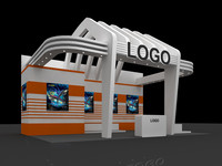 3d max exhibition booth design