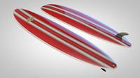 3d c4d surfboard vintage