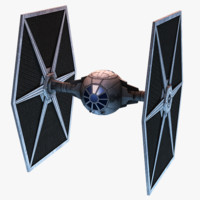 3d model tie fighter