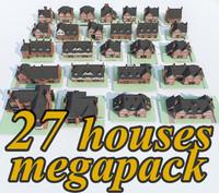 3d model 27 houses