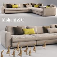 3d molteni c sofa model