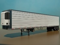 3d refrigerated semi trailer