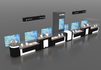 booth design counters 3d model