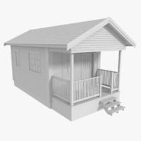 3d scandinavian cabin model