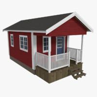 3dsmax scandinavian cabin