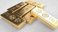 3d gold bars