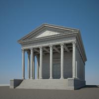 roman temple 3d max