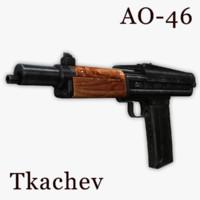 3dsmax ao-46 compact carbine assault rifle