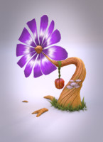 fantasy flower 3d model