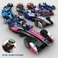 3ds max 2014 formula e race cars
