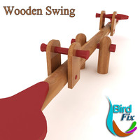 3ds wooden swing