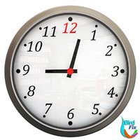 stylish wall clock 3d obj