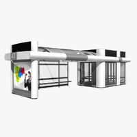3ds max bus stop
