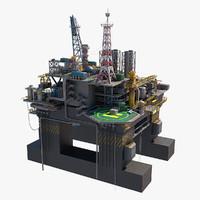 Oil rig platform P-51(1)