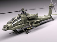 3d model apache copter helicopter