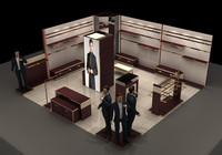 design store counters 3d model