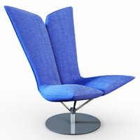 3d armchair angel chair