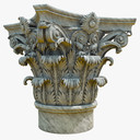 column capital 3D models