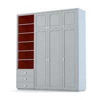 creative woodwork cabinet 3d model