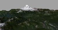mesh mount rainier 3d model