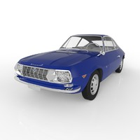 3d model lancia fulvia zagato 1965