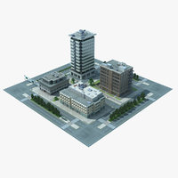 3d model city block cityscape 01