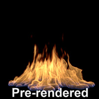 pre-rendered large flame