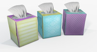 contains tissue box 3d model