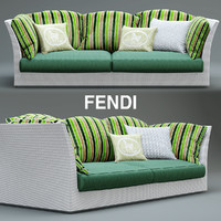 sofa fendi outdoor 3d max