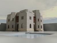 villa arabic 3d model