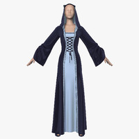3d model dress hood female mannequin
