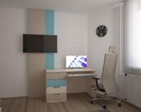 3d student room