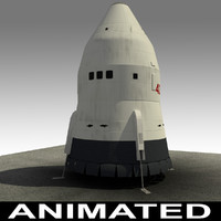 phoenix space orbit spacecraft 3d model