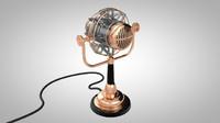 3d steampunk microphone model