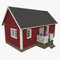 3ds scandinavian cabin interior exterior
