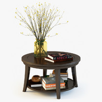 pottery barn metropolitan coffee table 3d model
